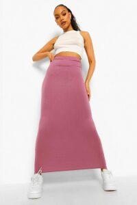 Womens Basic Jersey Maxi Skirt - Purple - 16, Purple