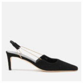 by FAR Women's Gabriella Suede Sling Back Court Shoes - Black