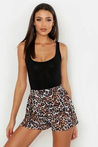 Womens Tall Leopard Print Flippy Shorts - Multi - 8, Multi