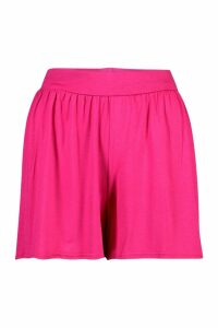 Womens Basic Jersey Flippy Shorts - Pink - 16, Pink
