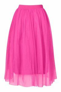 Womens Tulle Longer Length Midi Skirt - Pink - 12, Pink