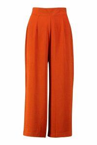 Womens Woven Wide Leg Culottes - Orange - 14, Orange