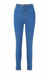 Womens Skinny Disco Fit Jean - Blue - 16, Blue