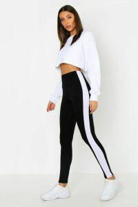Womens Tall Side Stripe Leggings - black - 16, Black