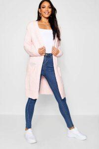 Womens Oversized Boyfriend Cardigan - Pink - M/L, Pink