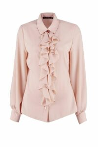 Womens Ruffle Detail Blouse - Pink - 16, Pink