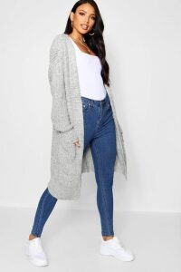 Womens Oversized Boyfriend Cardigan - grey - M/L, Grey