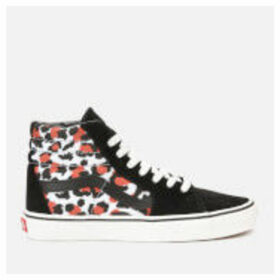 Vans Women's Sk8-Hi Leopard Trainers - Black/True White