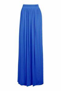 Womens Basic Floor Sweeping Maxi Skirt - Blue - 14, Blue