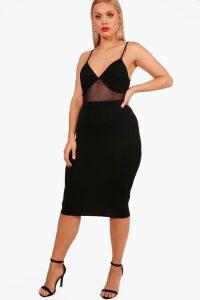 Womens Plus Midi Tube Skirt - black - 20, Black