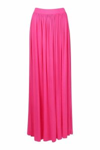 Womens Basic Floor Sweeping Maxi Skirt - Pink - 8, Pink