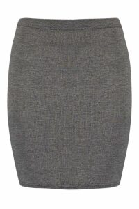 Womens Basic Jersey Mini Skirt - Grey - 14, Grey