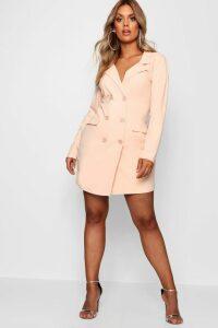 Womens Plus Scuba Blazer Dress - Pink - 20, Pink
