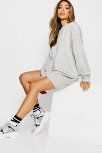 Womens The Perfect Oversized Sweat Dress - grey - 16, Grey
