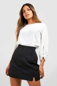 Womens Bow Sleeve Woven Blouse - white - 8, White