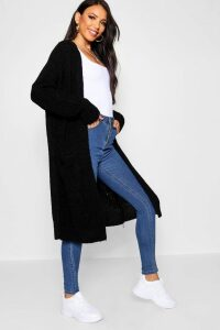Womens Oversized Boyfriend Cardigan - Black - M/L, Black