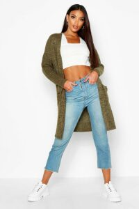 Womens Oversized Boyfriend Cardigan - Green - S/M, Green