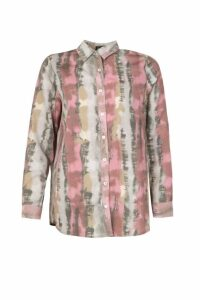 Womens Sheer Tie dye Oversized Shirt - grey - 10, Grey