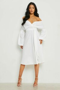 Womens Tall Off The Shoulder Blouse - White - 16, White