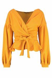 Womens Tall Off The Shoulder Blouse - Orange - 8, Orange