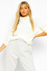 Womens Tall Roll Neck Jumper - white - 10, White