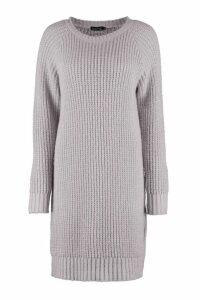 Womens Tall Soft Knit Jumper Dress - grey - L, Grey