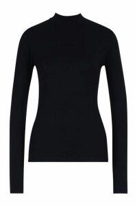 Womens Tall High Neck Basic Top - black - 16, Black