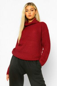 Womens Tall Roll Neck Jumper - red - 10, Red