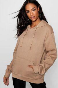 Womens Tall Solid Oversized Hoody - beige - M/L, Beige