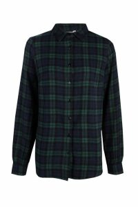 Womens Tall Checked Shirt - green - 14, Green