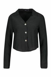 Womens Woven Shirt - black - 10, Black