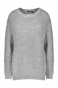 Womens Tall Crew Neck Jumper - grey - L, Grey