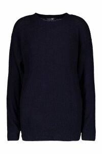 Womens Tall Crew Neck Jumper - navy - S, Navy