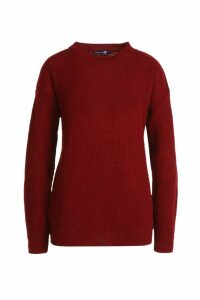 Womens Tall Crew Neck Jumper - Red - M, Red