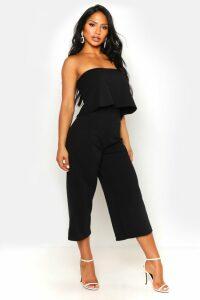Womens Bandeau Top & Culottes Co-Ord Set - black - 16, Black