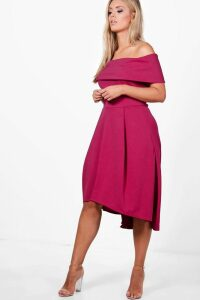 Womens Plus Double Layer Midi Dress - Pink - 26, Pink