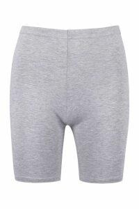 Womens Basic Solid Cycling Shorts - Grey - 14, Grey