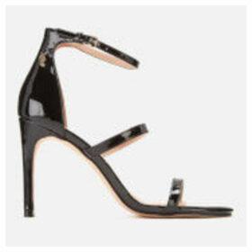 Kurt Geiger London Women's Park Lane Patent Triple Strap Heeled Sandals - Black - UK 7