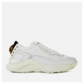 Kurt Geiger London Women's Lunar Eagle Leather Chunky Running Style Trainers - White - UK 6