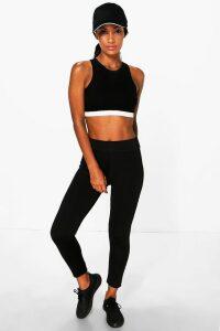 Womens Fit Basic Legging - Black - 8, Black