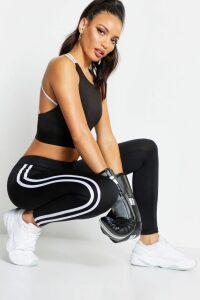Womens Lara Fit Side Stripe Running Legging - black - 10, Black