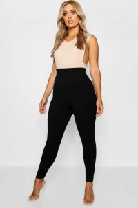 Womens Plus High Waist Sculpt Leggings - Black - 26, Black