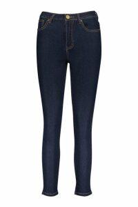 Womens Petite High Waist Skinny Jeans - Blue - 6, Blue