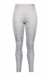 Womens Plus Fit High Waisted Running Leggings - grey - 20, Grey