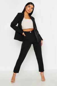 Womens Petite Tailored Trousers - Black - 12, Black