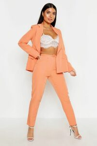 Womens Petite Button Tailored Trouser - Orange - 16, Orange