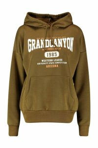 Womens Grand Canyon Basic Hoodie - green - 14, Green