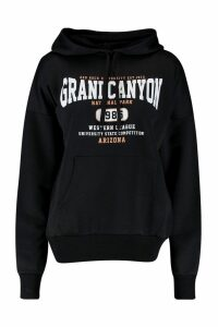 Womens Grand Canyon Basic Hoodie - black - 14, Black