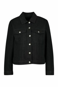 Womens Western Denim Jacket - Black - 10, Black