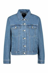 Womens Western Denim Jacket - blue - 16, Blue